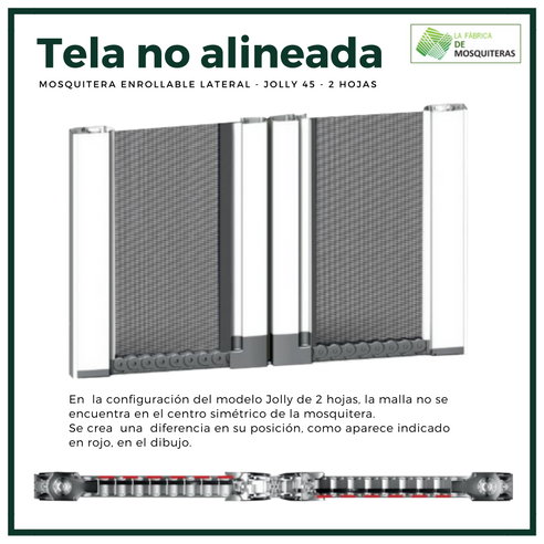 Mosquitera Jolly 45 2 Hojas Enrollable Lateral La
